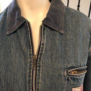 SilverJeans sherpa lined Jean Jacket denim Size S